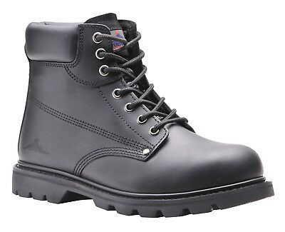 Portwest Steelite Welted Safety Boot SBP HRO Steel Toe Cap Leather SRA FW16