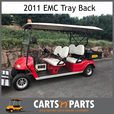 EMC Tray Back 2011 Red 4 Forward Seats Security Roof Light Golf Cart Buggy New W