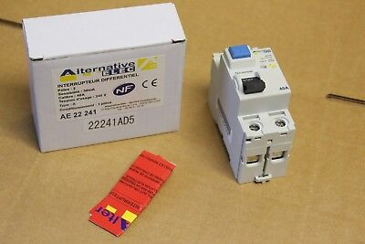 Alternative Elec AE22241 - Interrupteur differentiel 2P 240v 40A  Type A  30mA