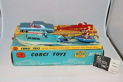 Corgi Toys Gift Set 31 Buick Riviera with boat, trailer and water skier RARE MIB