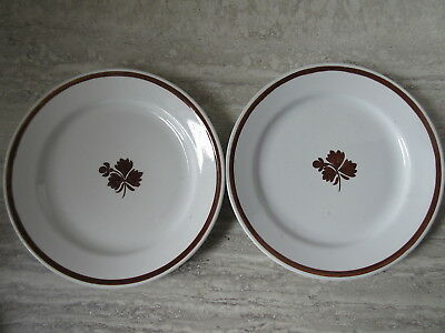 Pair of Antique Royal Ironstone Tea Leaf Plates A.J.Wilkinson England