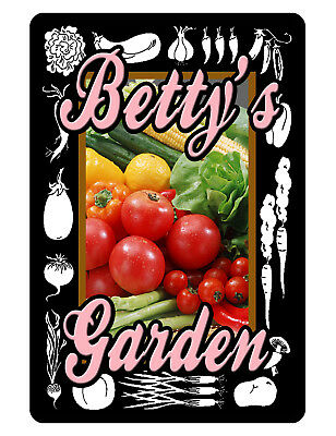 Personalized VEGETABLE Garden Sign Printed YOUR NAME ALL WEATHER ALUMINUM PNK#62