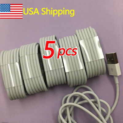 5pcs USB Cable Charger For Original Genuine OEM for Apple iPhone 7 6 6S Plus 5C