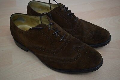 abb3097a LOAKE Brown Suede Brogues £135 Mens Size 8.5/8 42.5 202DS Shoes Leather