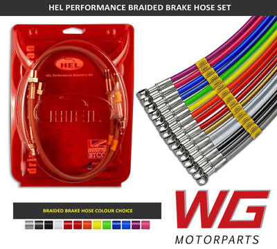HEL Braided Brake Line Hose Kit for Audi A3 Quattro 2.0TDi Front Discs (2004