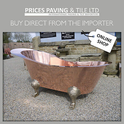 Solid Copper Freestanding Luxury Bath Tub Roll Top. Solid Copper / Nickel Plate