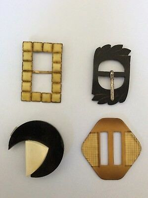 Antique And Vintage Collection Of Buckles Victorian And Art Deco Czechoslovakian