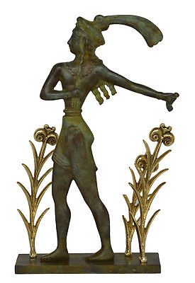 Prince of Knossos Bronze Sculpture - Prince of the Lilies Fresco Minoan period