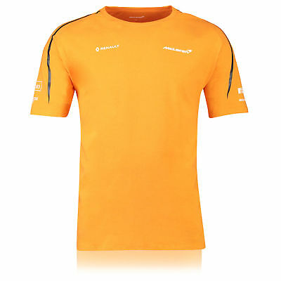Official McLaren 2018 Team Set Up T Shirt Tee Top Papaya Mens F1