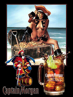 Captain Morgan, Retro metal Aluminium Sign vintage / man cave / Bar/ Pub