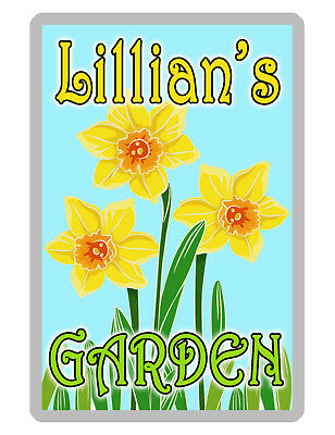 Personalized FLOWER Garden Sign Printed YOUR NAME WEATHER PROOF ALUMINUM DAF#071