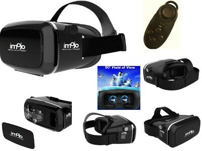 UNIVERSAL SAMSUNG iPHONE VR BOX HEADSET 3D VIRTUAL REALITY GLASSES WITH REMOTE