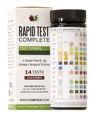 Rapid Test Complete - Urinalysis Test Strips 100ct UTI & pH Strips