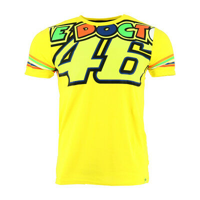 Valentino Rossi VR46 Moto GP The Doctor Stripes Yellow T-shirt Official New