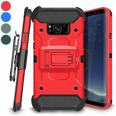 For Samsung Galaxy S8 Kickstand Heavy Duty Case With Belt Clip Holster Cover