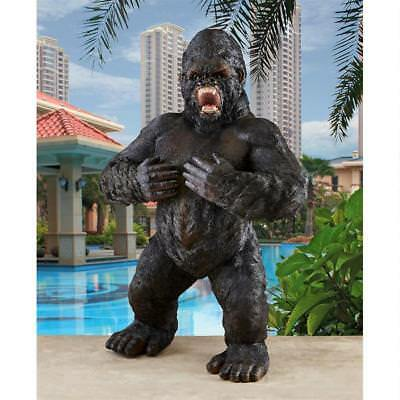 "Great Ape Monster Giant Gorilla Design Toscano 25"" African Animal Garden Statue"