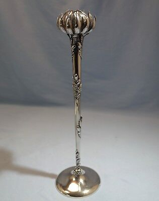 Rare & Unique Gorham Sterling Silver Chrysanthemum Three Dimensional Vase 1890s