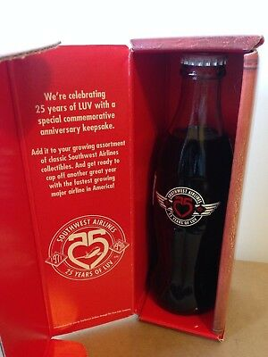 Coca Cola Southwest Airlines 25 Years of Luv Commemorative Coke Bottle