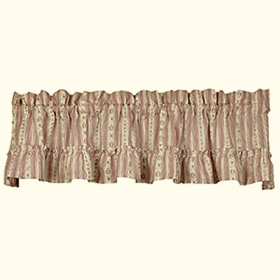 New Shabby Country Cottage Farmhouse Chic PINK FLORAL STRIPED VALANCE Curtains