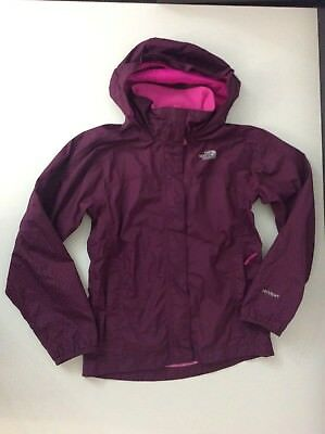 The North Face Pink Waterproof Rain Coat Jacket Age 10-12 Years Vgc Hyvent