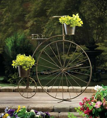 Anique Vintage Style Old-Fashioned Bicycle Plant Stand Garden Decor Planters