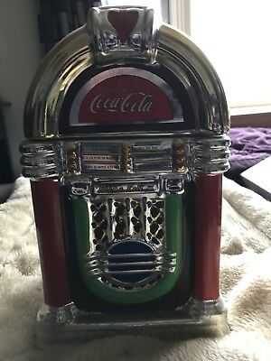 Gibson Coca Cola Retro Rock N Roll Jukebox Cookie Jar Canister 2002 Large