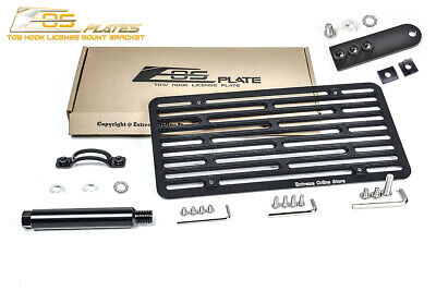 EOS Plate For 07-13 MB S-Class W// PDC Tow Hook License Mount W// Lowering Bracket
