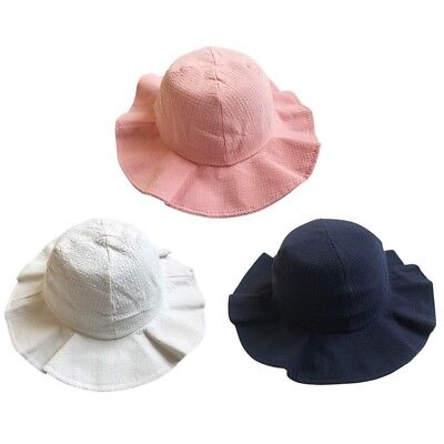 Newborn Baby Kids Girls Flower Princess Sun Hat Toddler Summer Bucket Floppy Cap