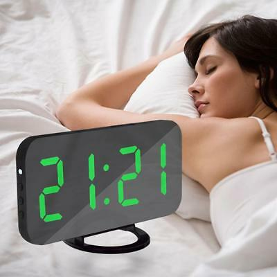 LED Digital USB Charging Alarm Clock for Phone Android Charger Snooze Clock