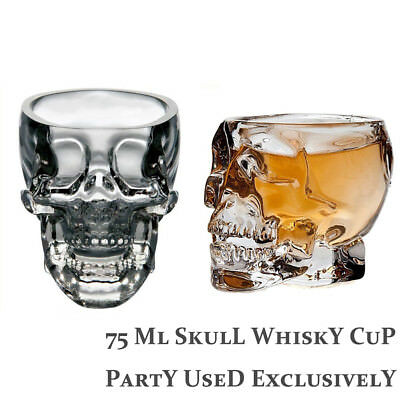 Halloween Skull Glass Cup Beer Wine Transparent Glass Head Vodka Whiskey Shot