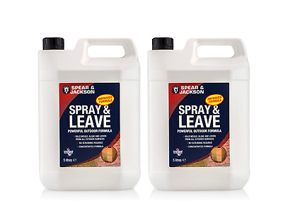 2 x 5L S&J Spray and Leave  Concentrate Algae, Mold Remover and Moss Killer