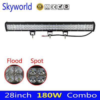 180W 28Inch CREE LED Work Light Bar Combo Offroad Driving Lamp Truck CAR Boat