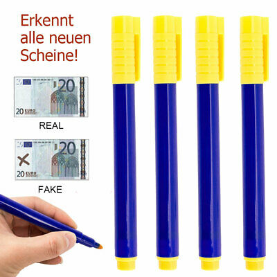 10pc Money Tester Pens Counterfeit Forged Fake Detector Marker Bank Note Checker