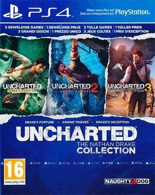 Sony PS4 Playstation 4 Spiel * Uncharted: The Nathan Drake Collection Teil 1+2+3