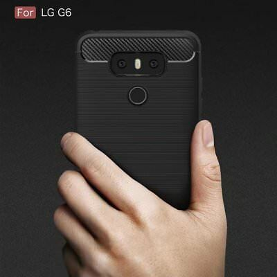 Slim Shockproof Rubber Rugged Silicone Matte Back Phone Case Cover For LG G6