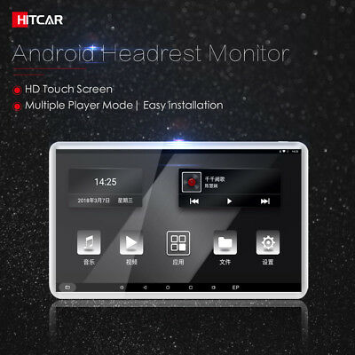 In Car Android Headrest Back Seat Touch Screen Media Video Player WiFi Bluetooth