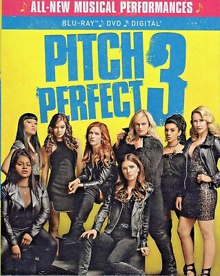 Pitch Perfect 3(Blu-Ray+Dvd+Digital Hd)W/Slipcover New Unopened