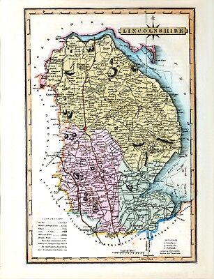 Reproduction vintage/antique map of Lincolnshire 1819 ....A2 A3 A4 Sizes