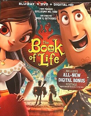 The Book Of Life(Blu-Ray+Dvd+Digital Hd)W/Slipcover New Unopened