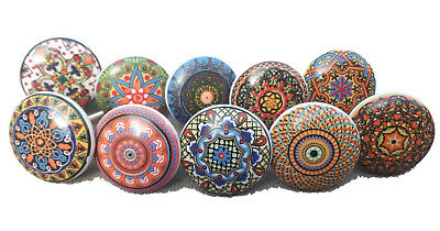 New Colorful Mix Vintage Ceramic Drawers Knobs Door Cupboard Pulls Kitchen Knob