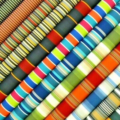 10 Colours Stripe Tough Waterproof Outdoor Canvas Fabric Material Cordura Type!