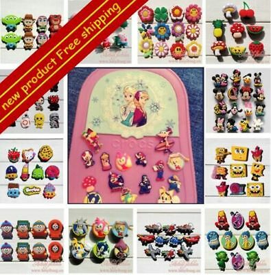Free DHL-Trolls Mickey Moana Shoe Charms Accessories Decoration Kids Party Gift