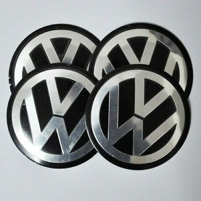 4PCS 90MM Auto Car Wheel Center Hub Caps Emblemn Sticker FOR Black VW