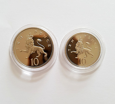 1983 - 2008 The Royal Mint Crowned Lion PROOF Ten pence 10p coin Uncirculated UK