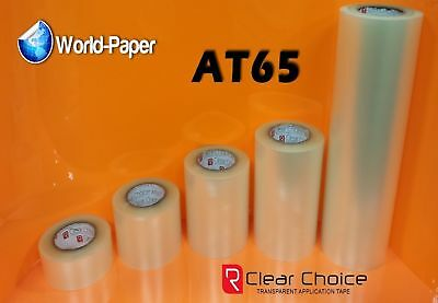 """Application  Vinyl Signs RTape Choice AT65 CLEAR Transfer 1 Roll 12"""" x 5 Yards"""