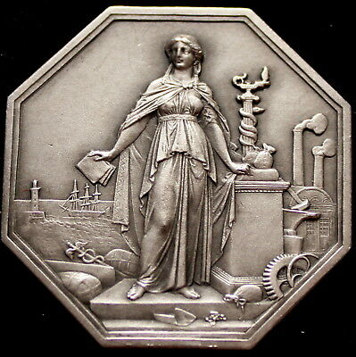 Stunning antique French Sterling Silver Medal Jeton,  Napoleon III period.