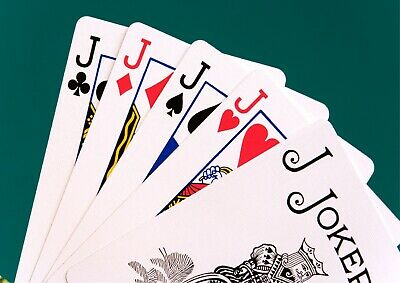 Playing Cards Joker & Jacks Giant Poster - A5 A4 A3 A2 A1 HUGE Sizes