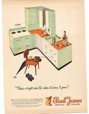 1946 PAUL JONES Whiskey Mid Century Modern Kitchen art VTG PRINT AD