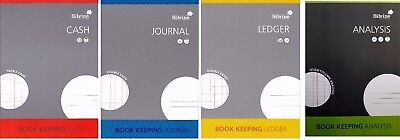 A4 ACCOUNTS BOOK KEEPING : Cash | Journal | Ledger | Analysis: WH2-R5C : PB :NEW