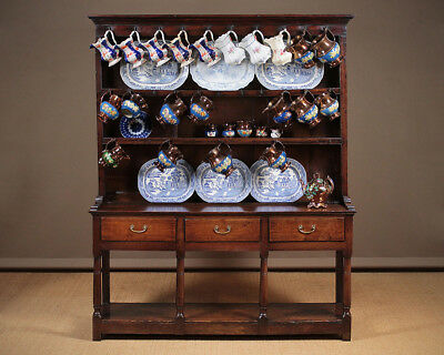 Antique Georgian Oak Welsh Cottage Dresser. South Wales c.1810.